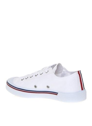 U.S. Polo Assn. U.S. Polo Assn. Kadın Keten Beyaz Düz Ayakkabı Beyaz